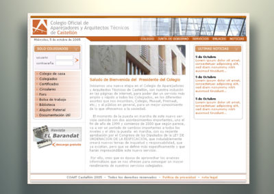 Web colegio Aparejadores
